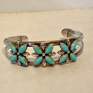 Sterling/Turquoise Cuff bracelet